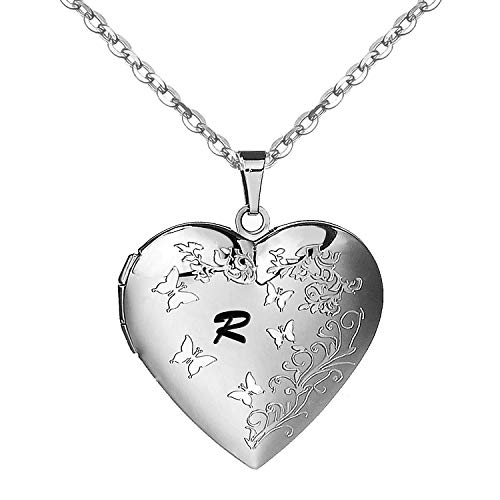 AMATOLOVE Alphabet R Initial Necklace| Pendant Necklace Cute Jewellery Gifts | Locket Necklace for Pictures