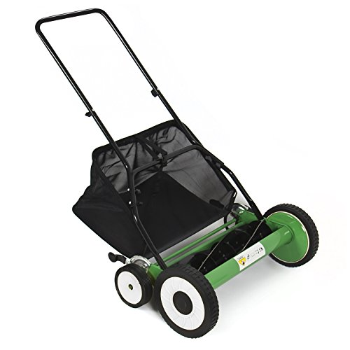 Best Choice Products Lawn Mower 20' Classic Hand Push Reel W/Grass Catcher 6 Adjustable Height 20'