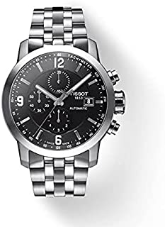 Tissot PRC 200 Chronograph Men's Black Dial Stainless Steel Band Watch - T055.427.11.057.00