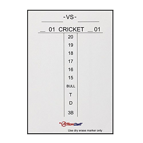 Piero Lorenzo Magnetic Dry Erase Scoreboard - Cricket and 01 Dart Games - 17' x 11' | 14' x 10' -...