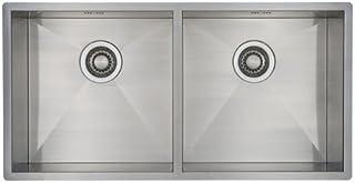 Doppelbecken Spüle Edelstahl MIZZO Design Quadro 800-400 Flächenbündig | Unterbau Edelstahlspüle