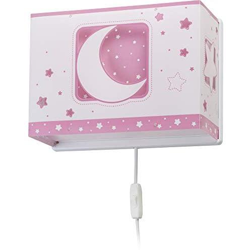 Dalber - Lampada da parete E-27, Chiaro di luna rosa, Multicolore, 31 x 13 x 22.5