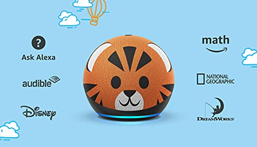 All-new Echo Dot (4th Gen) Kids Edition   Designed for kids, with parental controls   Tiger