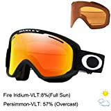 Oakley Frame 2.0 Pro Xm Ski Goggles, Unisexe Adulte M Noir Mat (Matte Black/Fire Iridium/Persimmon)