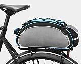 Bolsa Trasera para Bicicleta Multifuncional Bolsa,Bolsa Bicicleta Trasera,Bolsa para el Asiento Trasero de la Bicicleta Bolsa Bolsa para Ciclismo al Aire Libre-Azul