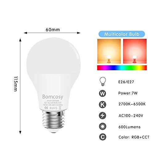 Bomcosy 7W WiFi LED Smart Bulb 3 Pack