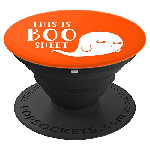 This is Boo Sheet Funny Hungry Ghoul Ghost Halloween Party PopSockets Grip and Stand for Phones and Tablets