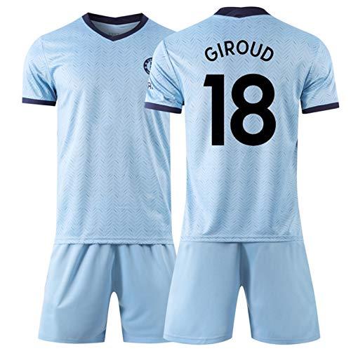 YUUY Fußball T-Shirt Set Olivier Giroud # 18 Herren Fußballtrikot - Kurzarm Sport Trikots T Shirt-Fans Shirts schnell trocknende Fan Uniform (Color : B, Size : Adult-XL)