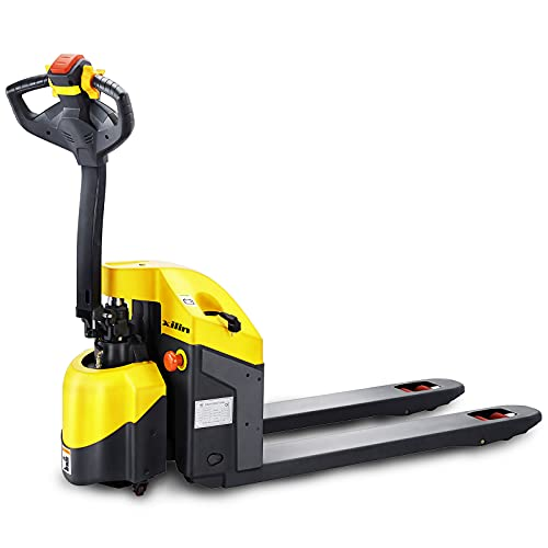 """Xilin Electric Powered Pallet Jack 3300lbs Capacity Mini Type Walkie Pallet Truck 48""""x27"""" Fork Size"""