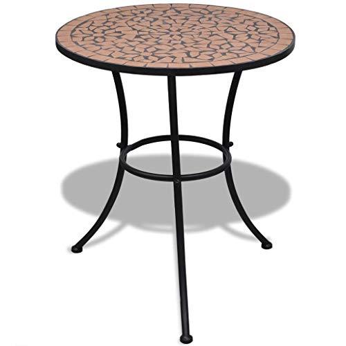 vidaXL Table Mosaïque en Terre Cuite Table d'Appoint Jardin Terrasse Balcon