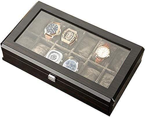 HKX Caja de Reloj de Mesa de Madera, aparador, Cierre a presión, Cierre de Pulsera, Almohada, exhibición de Joyas, Almacenamiento, Caja de Almacenamiento de Gama Alta