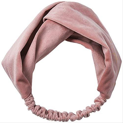 Fluwelen Gezicht Was Haarband roze