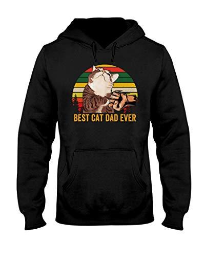 Best Cat Dad Ever Vintage Shirt Black Hoodie Sweatshirt Tshirt Gift Cotton Plus Size