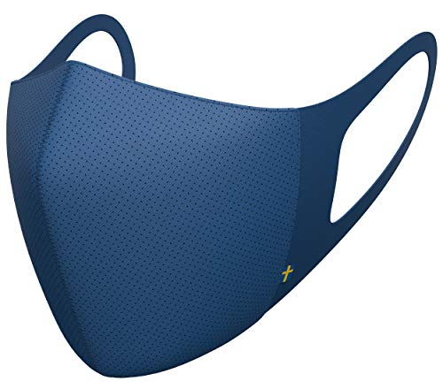 Airinum Lite Air Mask - Lightweight Face Mask with Filter and Elastic Ear Loops, Reusable Mask for Outdoor Activities, Cycling, Travel | 2 Filters and Head Clip Included (XS, Aurora Blue)