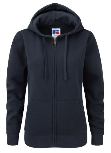 Z266F Damen Authentic Hooded Sweatjacke Sweatshirtjacke Jacke mit Kapuze, Größe:L;Farbe:French Navy