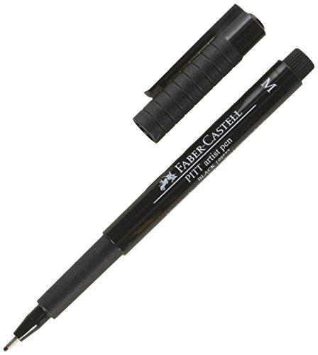 A.W. FABER CASTELL USA Black, Faber-Castell Pitt Artist Pen, 0.7 millimeters
