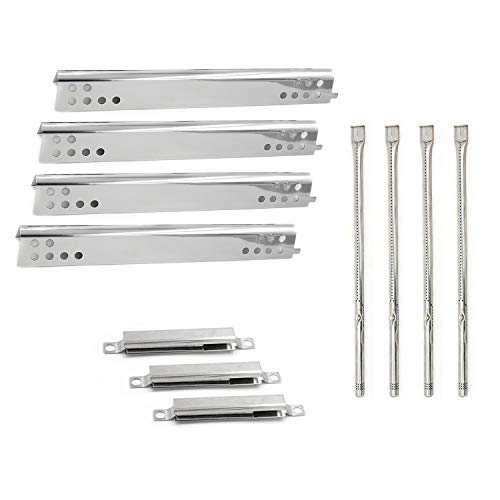 Hongso Repair Kit Replacement for Charbroil Performance 475 4 Burner 463347017, 463361017, 463673017, 463376018P2, Liquid Propane, Heat Plate Tent Shield g470-0004-w1, Burner, Adjust Carryover Tube