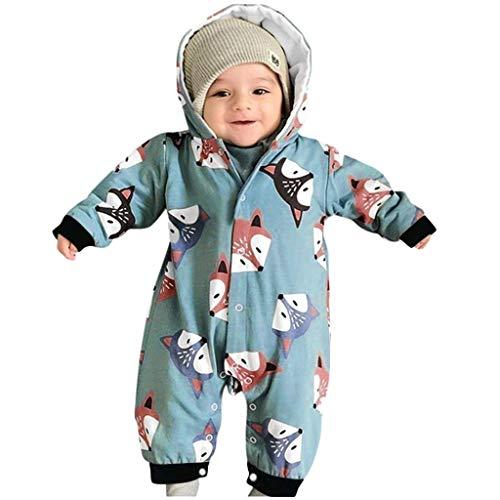 QXLhxuIo Baby Kleidung Sets Kind Kleinkind Baby Mädchen Langärmeliger Cartoon-Hängematten-Kletteranzug für Kinder in Fuchsform mit Kapuze im Herbst und Winter Strampler Jumpsuit