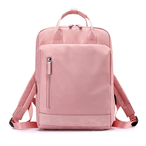 ZH Travel Laptop Backpack Business Anti Theft Slim Durable Laptops Water Resistant College School Computer Bag Gifts for Men & Women Fits 15.6 Inch Notebook,Pink