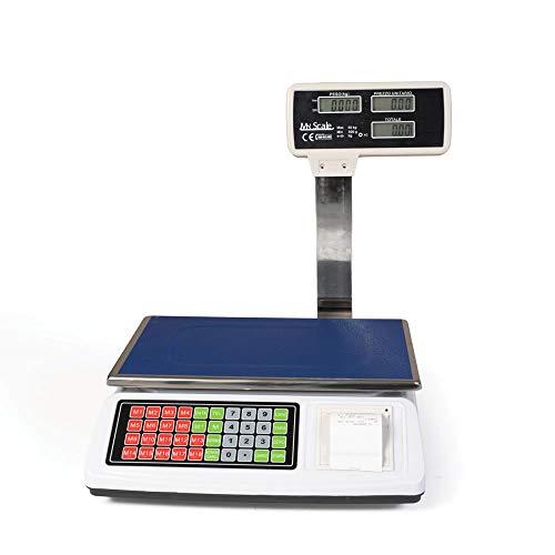 Bilancia da banco con scontrino elettronica portata 50kg stampa ricevuta e memoria prodotto