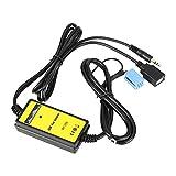 SANON DC 12V Auto Car USB Aux-In Adapter Mp3 Player Radio Audio Interface