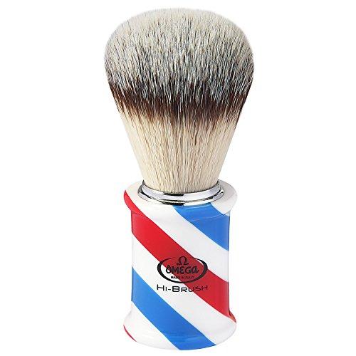 Omega 46735 Rasierpinsel Hi-Brush - Barber Pole