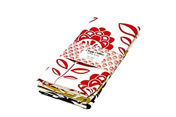 Candy Cottons Kitchen Dish Towels 100% Cotton Extra Large Tea Towels Flower Printed Pack of 3 Kitchen Towels of Size 18 X 28 Inches for Everyday Kitchen Cooking