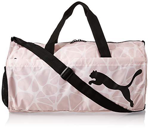 Puma 076626 13 AT ESS Barrel Bag Damen Tasche aus Polyester mit Reißverschluss, Groesse OneSize, rosé