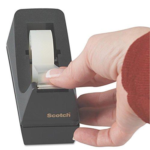 "Scotch Desktop Tape Dispenser, 1"" Core, Weighted Non-Skid Base, Black Photo #3"
