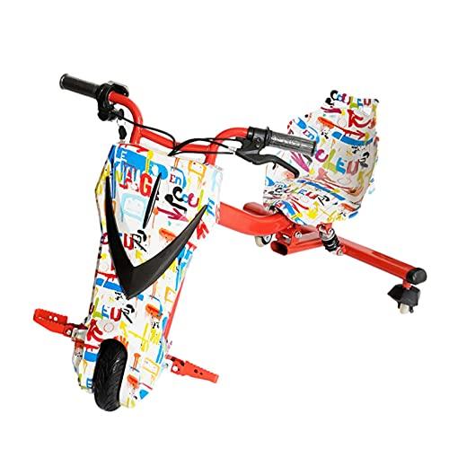 Powerrider 360 Vehículo eléctrico Crazy Bike Sup Amortiguacion Trasera Velocidad máxima 20km/h Patinete con Silla Boogie Drift 36D