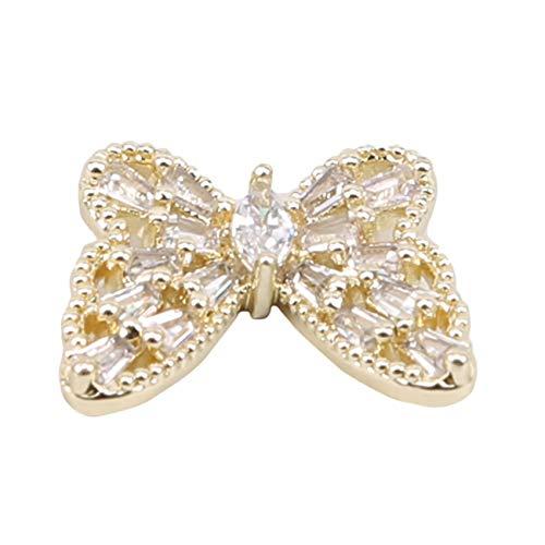 unknow JIUZUI 1465 - Juego de abalorios para decoración de uñas, diseño de mariposas 3D