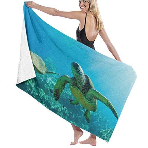 Toallas de baño Tropical Island Under Sea Turtle Toallas de mano azules Toalla de mano 100% poliéster algodón Toalla de cuerpo altamente absorbente Sábanas de baño de secado rápido para el hogar Hotel