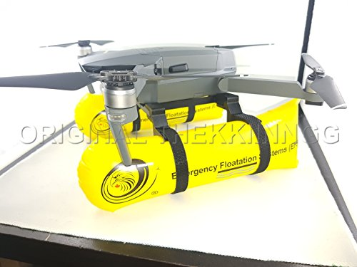 Thekkiinngg Water Mod–Drone Emergency Landing Gear–Quadcopter Foldable Floating System–Set of 2 Inflatable When Flying Over Water –Yellow Travel Edition Compatible with DJI Mavic Pro