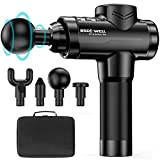 Muscle Massage Gun for Athletes Deep Tissue Back Massager with Heavy-Duty High Torque Brushless Motor for Back Pain, Ideal for All Muscles Recover & Massage