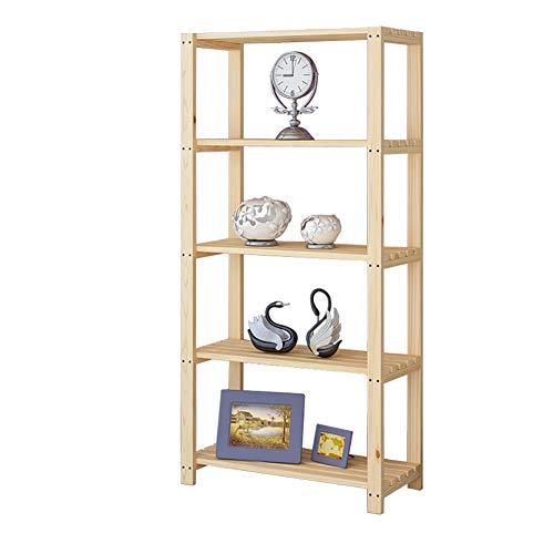 TOPYL 3-6 Tier eiken Finish dikker boekenplank, eenvoudige montage Compact Open houten planken Opslag Organizer voor Records Boeken