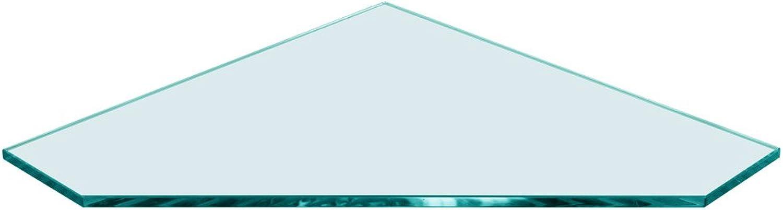 Corner Pentagon Glass Shelf 16 x 16