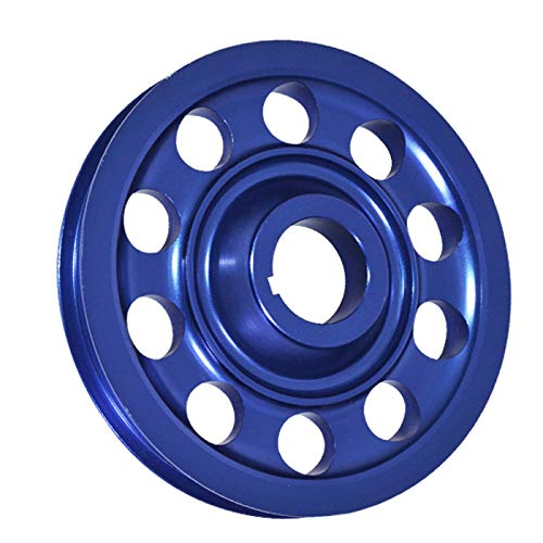Compatible/Replacement For Honda Civic/Integra (B16/B18 DOHC Engines Only) Aluminum Alternator Crank Pulley Wheel (Single Belt) Blue