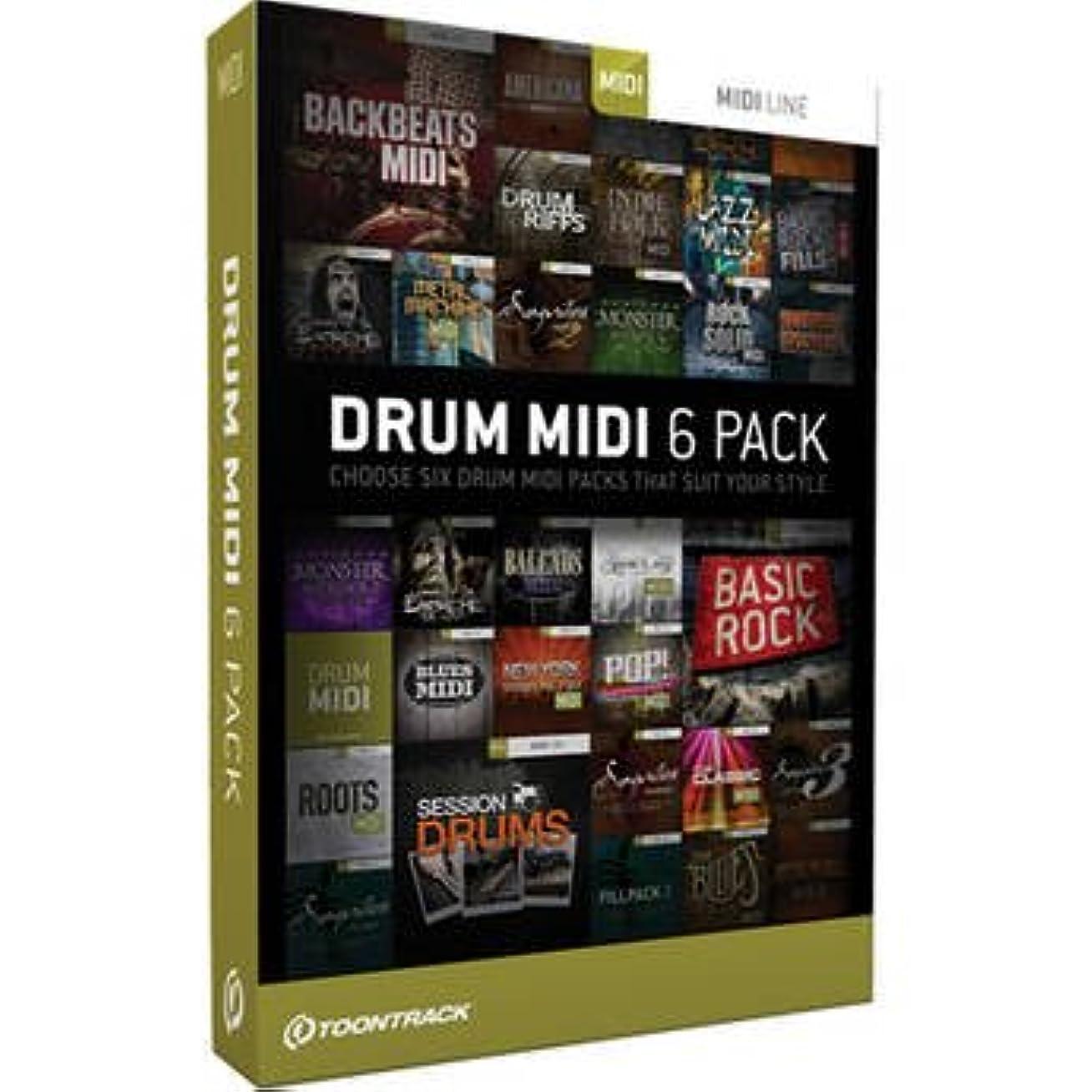 人口キロメートル高架DRUM MIDI 6 PACK