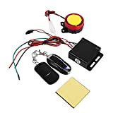 12V Universial Motorcycle Anti-theft Security Alarm System with Double Remote Control, Motorcycle Remote Control Alarm Warner Anti-Theft Security Burglar Alarm System