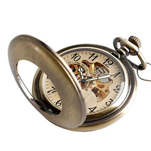 SHUMEISHOUT El Nuevo Reloj de Bolsillo Regalo de Acción de Gracias Mecánico Mecánico Mecánico Steampunk Hollow Vintage Exquisito Colgante Caja Suave Hombres Mujeres