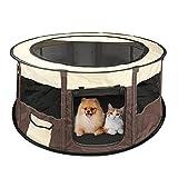 BestFire Pet Box Puppy Dog Cat Tende Pieghevole Esercizio Gabbia per canile Traspirante Animal Pet Play Tent Rabbit Run Cage Pet Mesh Shade Cover (D * H / 110 * 60CM / 43,3 * 23,6 pollici)