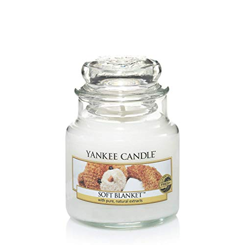 Yankee Candle Candela profumata in giara piccola   Coperta morbida   Durata Fino a 30 Ore