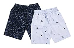 Sangsi Enterprises Boys Printed and CheckedCotton Shorts