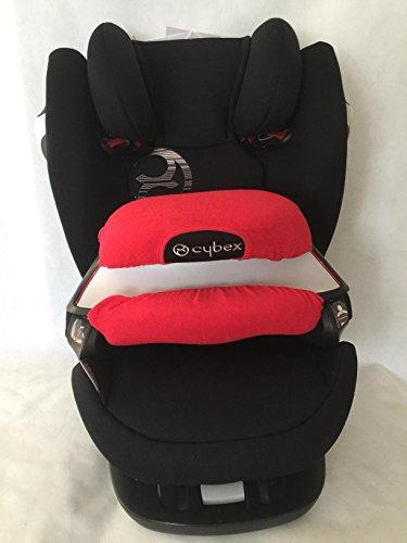Sommerbezug Schonbezug für den Fangkörper des Cybex Pallas M und S + M- und S-Fix Frottee 100% Baumwolle rot