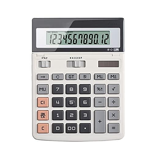 DWQ Calculadora de Escritorio Calculadora Solar de energía Dual con Botones Grandes de Pantalla Digital de 12 dígitos, para Oficina en casa (Color : M-1)