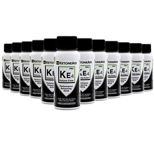 KetoneAid KE4 World's Strongest Ketone Ester Drink, 30g Exogenous D BHB. Not a Salt. Sugar Free, Caffeine Free. (12 Count) 1