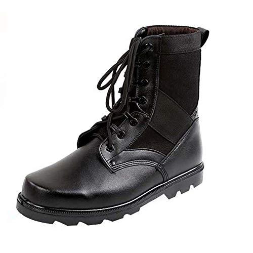 uirend Botas Servicio Militar Calzado Trabajo Zapatos Hombre - Botines Desert Militares Uso General Táctico Negro