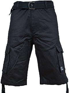 Pro Club Men`s Twill Cargo Short Pants - Charcoal