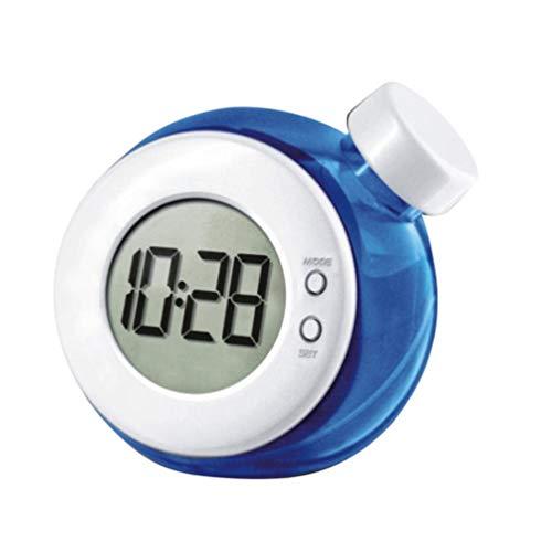 VOSAREA Horloge et Réveil Matin Eau créatif Affichage LED Horloge Horloge de Bureau - Pas de Batterie incluent(Bleu)