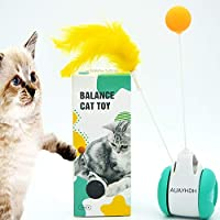 AUAYHDH 猫じゃらし 猫用おもちゃ 猫 一人 遊び おもちゃ タンブラー車 自動回転ボール 一人遊び ストレス解消 ストレス解消対策 安全素材 ペット用品